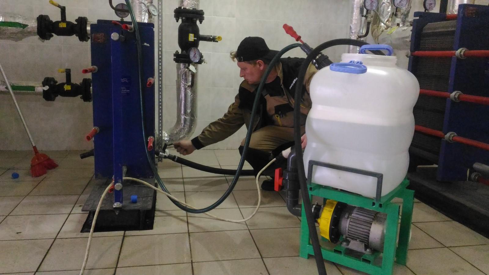 Промывка теплообменников своими руками